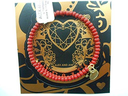 Alex and Ani Women's Primal Spirit Wrap Bracelet Rosewood/Rafaelian Gold One Size (Alex And Ani Red Beaded Bracelet)