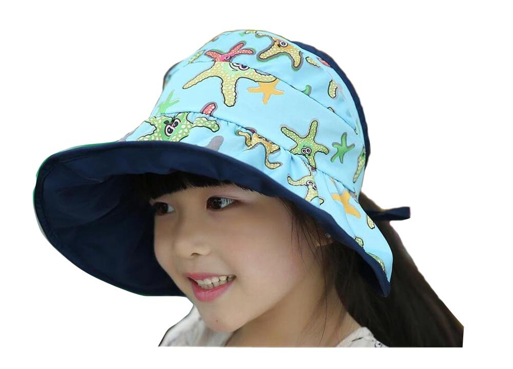 JULED Kids Waterproof Sunscreen Sun Hat Beach Foldable Fisherman Bucket Cap