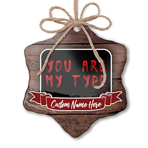 NEONBLOND Custom Family Ornament You are My Type Blood Halloween Personalized -