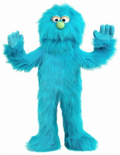 30'' Blue Monster Puppet, Full Body Ventriloquist Style Puppet