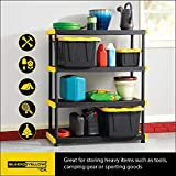 Original Black & Yellow 4-Tier Storage Shelving