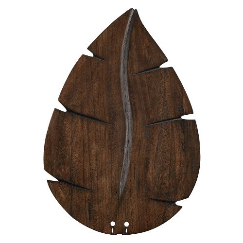 (Fanimation B6080WA Wide Oval Leaf Carved Wood Blade, 26-Inch, Walnut)