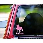 "Minglewood Trading American Staffordshire Terrier w/Custom Name Vinyl Decal Sticker 6"" x 4.25"" Pitbull Pit Bull - - Black 7"