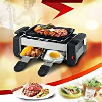 Inditradition 3 in 1 Electric Barbecue (BBQ) Grill, Fryer, Roaster, Perfect for Outdoor Camping & Picnic, Steel Built, Silver