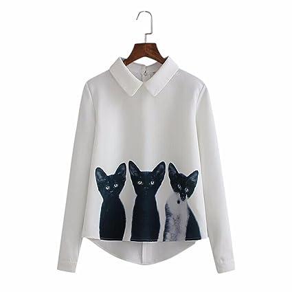 Camisa, Challeng ropa de moda a la calle Camisa de manga larga Las mujeres sueltan