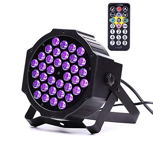 (72W Black Lights, DeepDream 36LED UV Blacklight Stage Spotlight with Remote Control)