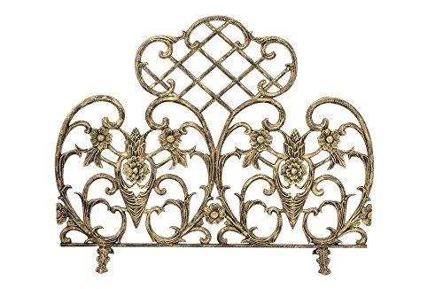 - Uniflame Single Panel Cast Aluminum Screen, Antique Gold