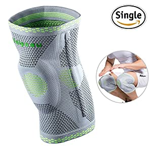 Knee Brace Compression Sleeve - Side Stabilizer & Gel Patella Pads Support for Arthritis, Meniscus Tear, ACL, MCL, Joint Pain Relief, Injury Recovery,Sports for Women & Men by Velpeau (Large)