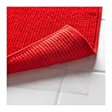 Ikea Red Supersoft Bath Shower Mat Rug Bathtub Bathroom Floor Badaren