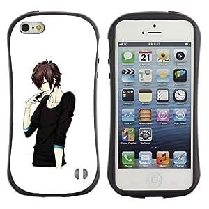 LASTONE PHONE CASE / Suave Silicona Caso Carcasa de Caucho Funda para Apple Iphone 5 / 5S / Japanese Anime Black Man Guy Asian