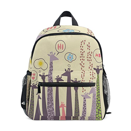 Giraffe Kids Bag Boy Girls Cute Toddler Pre Animal School Backpack Kindergarten ZZKKO for qCEpHtwW