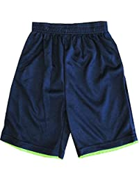 TNT Ninja Turtles Little Boys Navy Blue Basketball Shorts 4-7