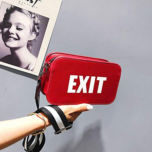 Bingo Point 2018 Fashion PU Leather Waist Bag Women Fanny Packs Letter EXIT Waist Packs Belt Bag Kpop Street Punk Female Chest Handbag -
