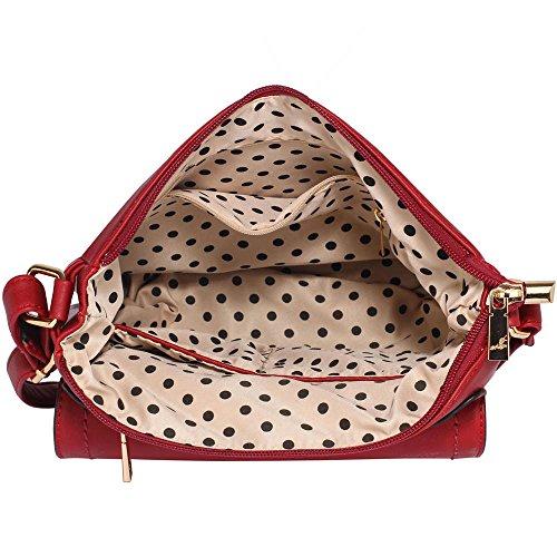 De Cruz Diseño Roja Damas Cuerpo Crossbody Delantera Cuerpo De Trasera 1 Femenino Mujer Cremallera Para Cruzan Bolsos Y Con Nuevo Hombro Aspecto wvAcUz