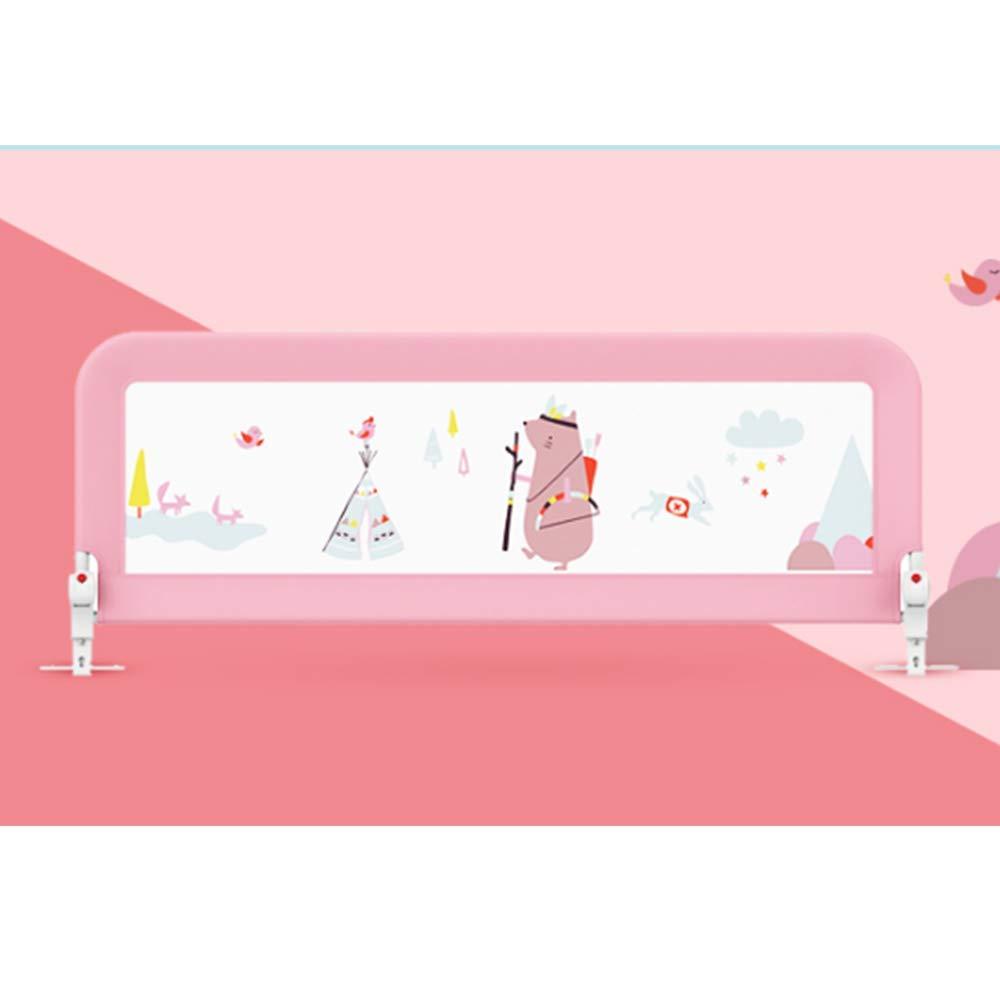 HAIYU ベッドガード- ベビーチャイルドセーフティベッドバー150/180 / 200CM(ブルー、ピンク) 組み立てや折りたたみが簡単 (Color : Pink, Size : 150cm) 150cm Pink B07TD1SW6F