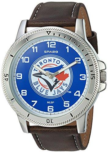 (MLB Toronto Blue Jays Men's Watch and Wallet Set, Brown, 7.5 x 4.25 x 2.75-Inch)