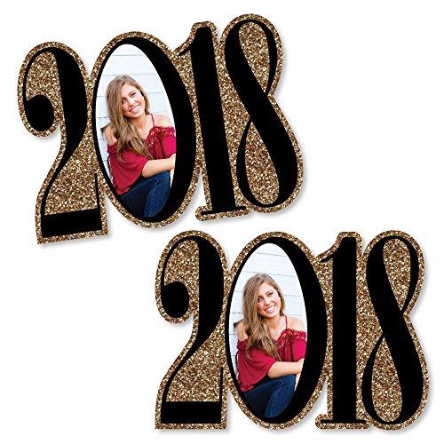 (Custom Tassel Worth The Hassle - Gold - 2018 Graduation Photo Decorations DIY Party Essentials - Set of)