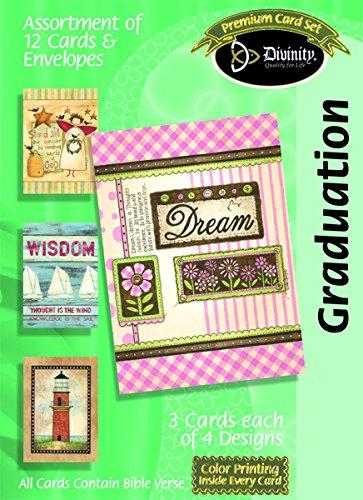 Graduation Assortment (Divinity Boutique Greeting Card Graduation- Assortment (18023N))