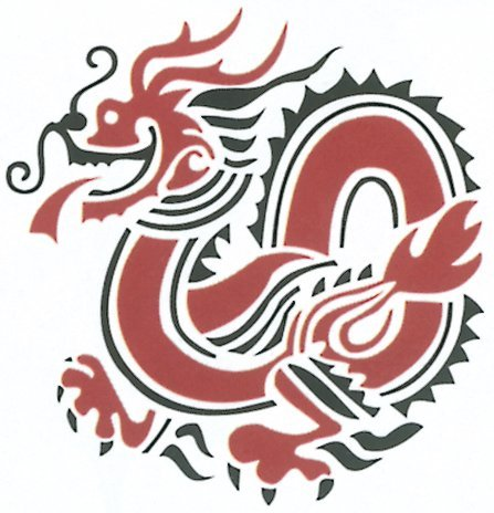 Delta Rubber Stampede Rubber Stamp, Chinese Dragon ()