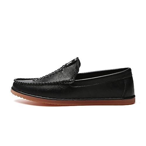 Mocasines para Caminar Zapatos Planos de Haba de los Hombres de Verano Zapatos Planos de Color sólido Zapatos de Barco: Amazon.es: Zapatos y complementos