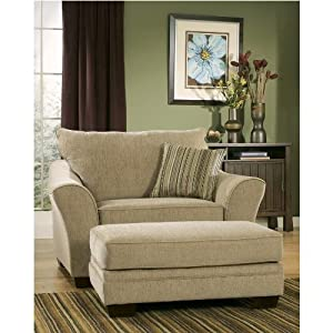 Amazon Com Comfortable Chair And 1 2 With Ottoman