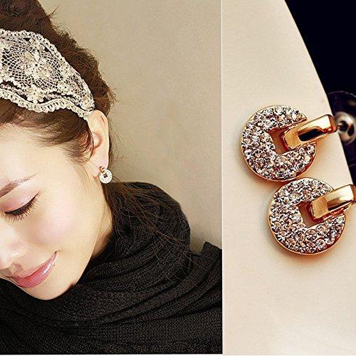 Lady Pandora Costumes (1 Pair Fashion Women Lady Elegant Crystal Rhinestone Ear Stud Earrings Jewelry, NK.)