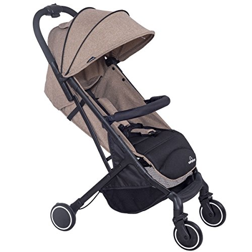Foldable Lightweight Baby Travel Stroller - Coffee