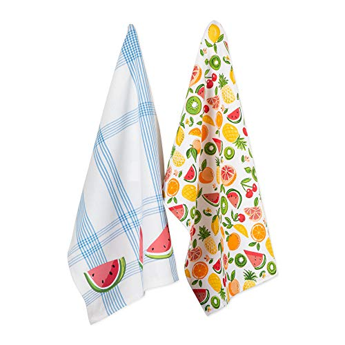 DII CAMZ11117 Cotton Summer Dish, Decorative Oversized Towels, Perfect for Every Day Home Kitchen, Holidays and Housewarming Gifts, 18x28