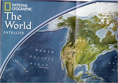 MAP OF THE WORLD One Side Globe World Other Side The World - National geographic world satellite map
