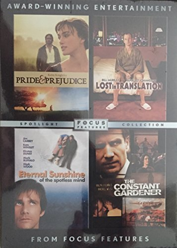 Focus Features Pack (The Constant Gardener, Eternal Sunshine of the Spotless Mind, Lost in Translation, Pride & Prejudice) by