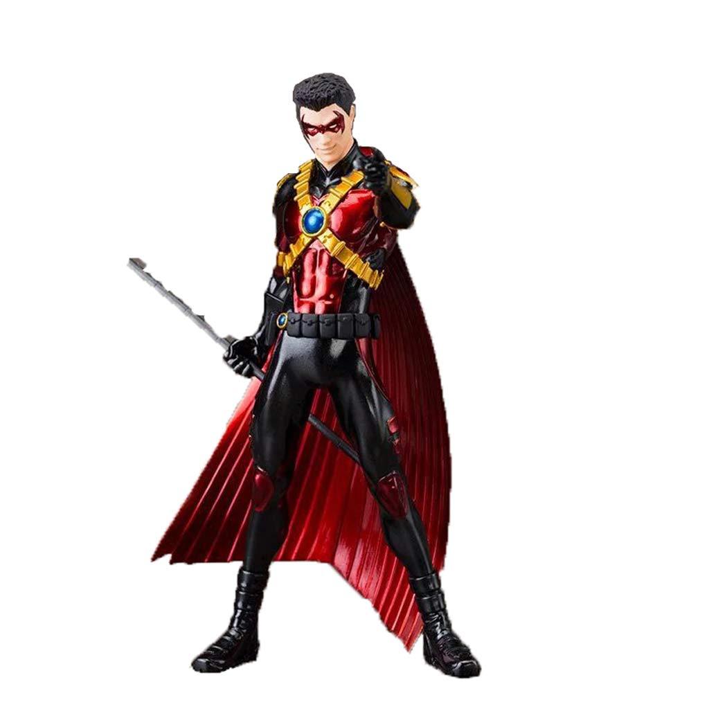 JIANPING Toy Model Movie Character Batman Teen Titan Souvenir Collectibles Crafts Gift rosso Robin 18cm Giocattoli di Modello