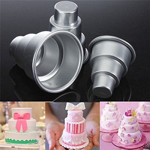 (1Pcs New Cake Trays Mini 3 Tier Pan Tins Cupcake Pudding Pizza Molds Diy Home Decors Birthday Party Supplies Wholesale )