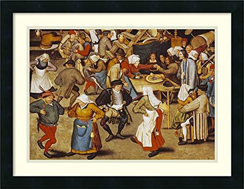 Framed Wall Art Print The Indoor Wedding Dance by Pieter The Elder Bruegel 26.00 x 20.12 (The Wedding Dance Pieter Bruegel The Elder)