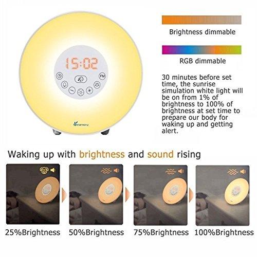 Denver CRL-330 - Radio Despertador con luz LEZ y Sonidos Naturales, Color Blanco: Denver-Electronics: Amazon.es: Electrónica