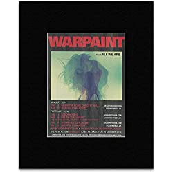 WARPAINT - Jan/Feb UK Tour 2014 Mini Poster - 13.5x10cm