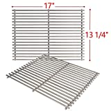 SHINESTAR Stainless Steel Grill Grates for Nexgrill 720-0830H, 720-0783E, Kenmore, Member Mark and More, 17'' Grill Replacement Parts Cooking Grids-17'' x 13-1/4'' Each, 2pcs