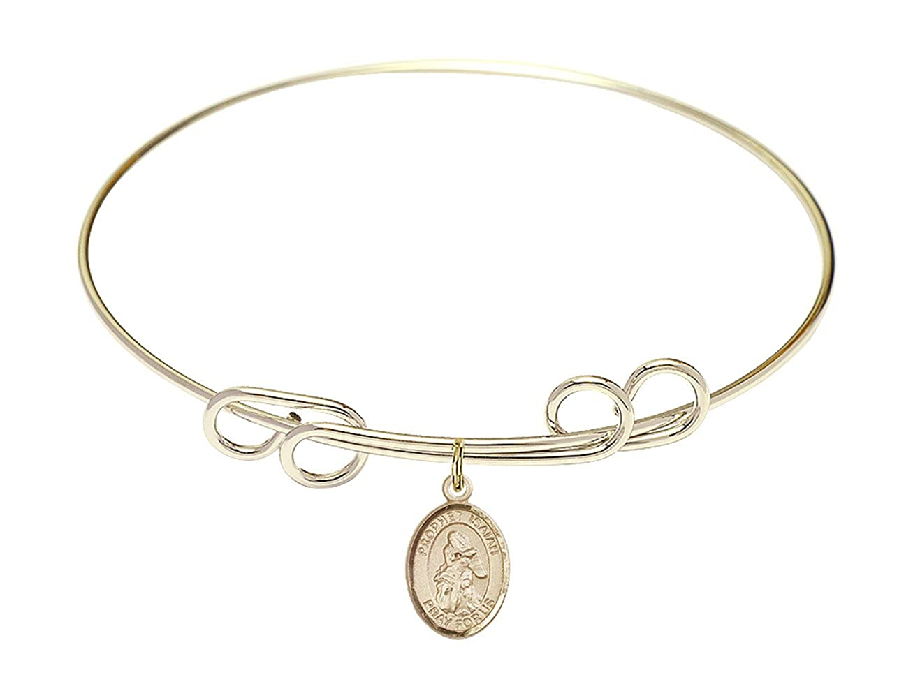 Isaiah Charm. DiamondJewelryNY Double Loop Bangle Bracelet with a St