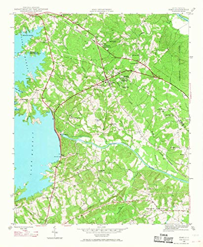 Mountain Laurel Nursery - YellowMaps Irmo SC topo map, 1:24000 Scale, 7.5 X 7.5 Minute, Historical, 1946, Updated 1968, 26.8 x 22 in - Tyvek