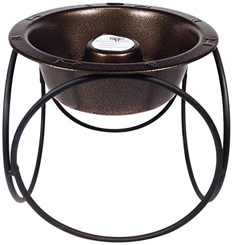 Platinum Pets Slow Eating Single Olympic Diner Feeder with Stainless Steel Dog Bowl, Copper Vein