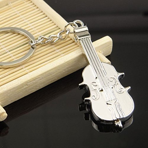 Eagle Italian Charm - 1 Pc Majestic Unique Mini Pocket Violin Cello Musical Instrument Equipment Charm Creative Metal Cute Utility Best Strap Wrist Holder Women Teen Teenagers Girls Bottle Opener Color Silver