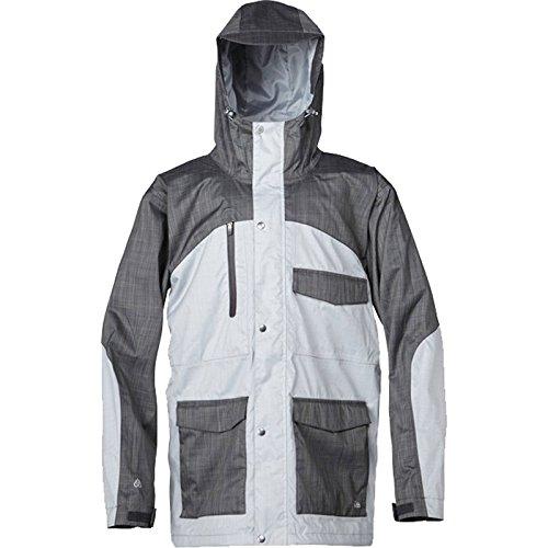 Quiksilver Snow Men's Roger That Jacket, Gray, Large