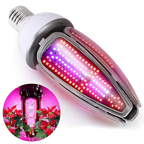 Waterproof 300W LED Grow Light Bulb Full Spectrum,Plant Light for Indoor Plant, 360 Degree Lighting with 480Leds, Plant Lamp for Indoor Garden Greenhouse Hydroponics Grow Tent, E39/E40 Mogul Base