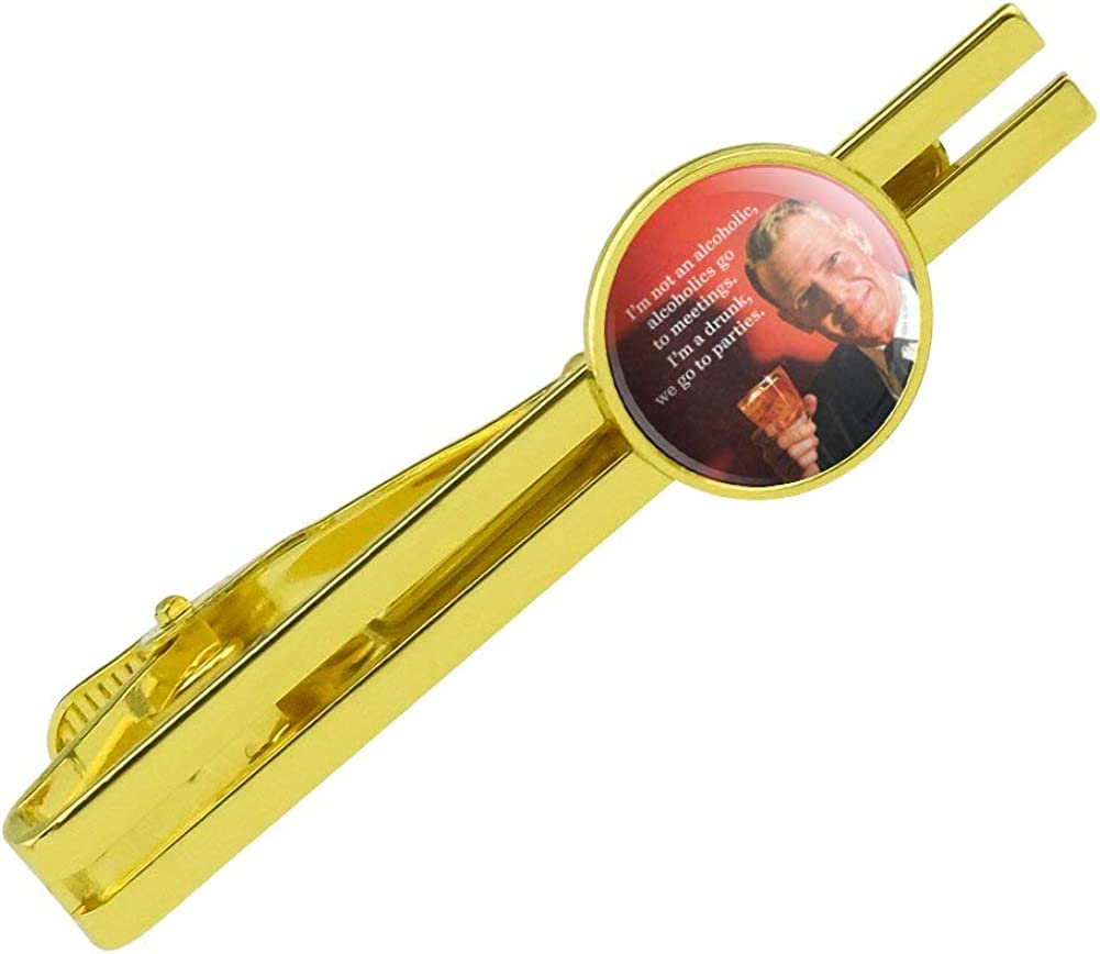 GRAPHICS /& MORE Im Not Alcoholic Meeting Parties Funny Round Tie Bar Clip Clasp Tack Gold