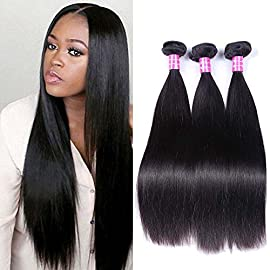 Sterly Brazilian Straight Hair 3 Bundles With Frontal 13×4 Ear To Ear Lace Frontal With Bundles Unprocessed Virgin Human Hair Extensions Natural Color