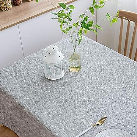 AMENZ manteles rectangulares de Lino, para Mesa de jardín, Mantel ...