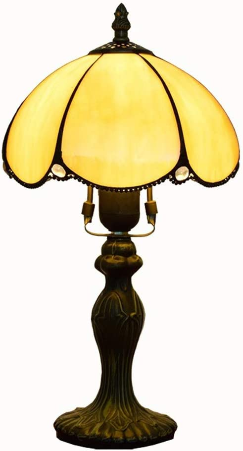Henley Art Deco Lampe De Table Creative Tiffany En Verre Pour