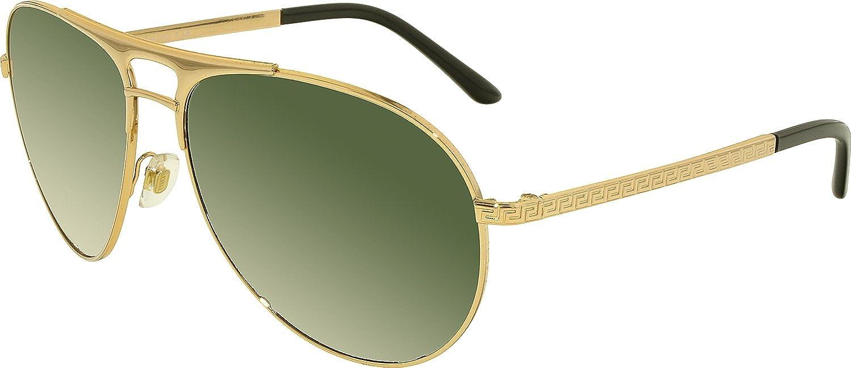 Amazon.com: Versace Men\'s VE2164 Sunglasses Gold / Gray Green 60mm ...