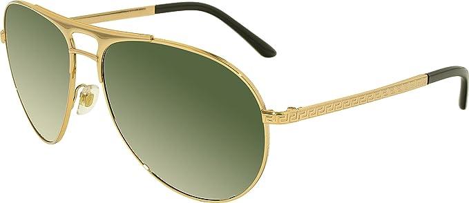 versace ve2164 sunglasses 100271 60 gold frame gray green