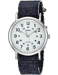 Timex Unisex TW2R106009J Weekender Dark Blue Denim Slip-Thru Strap Watch