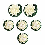 Xiaolanwelc-6pcs-Artificial-Pond-Plants-Lotus-Lilies-Flower-Faux-Silk-Floating-Flower-Fake-Craft-Water-Lily-Plant-Leaf-DIY-Home-Decor
